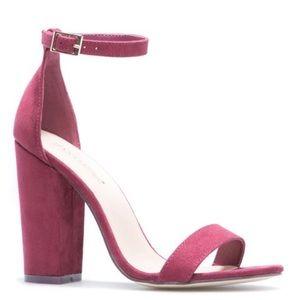 BRAND NEW- Beautiful Bordeaux Ankle Strap Sandal